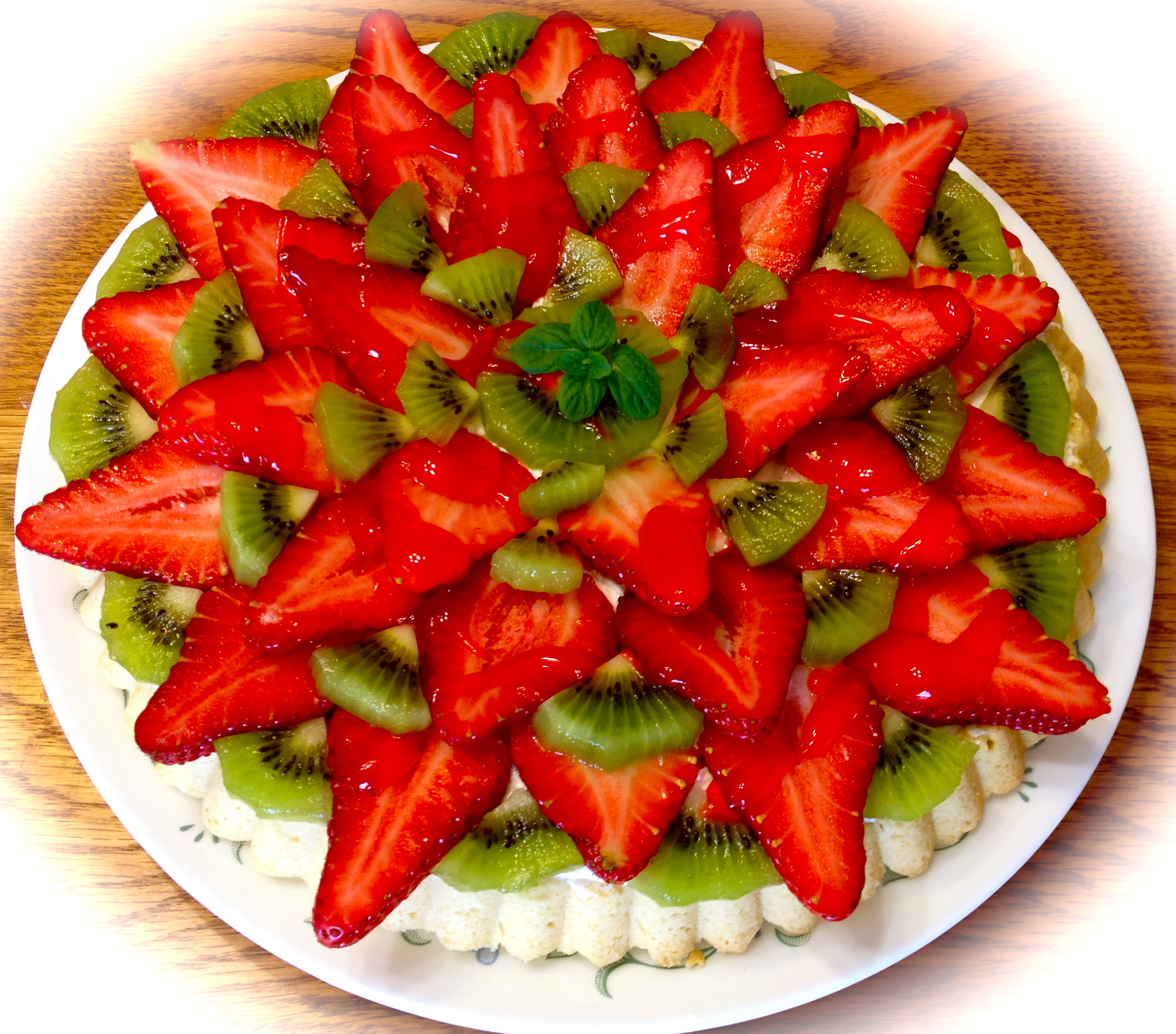 Fresh Fruit Tart Pizza Cookie
